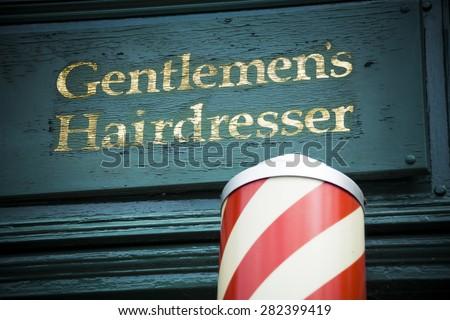Gents hairdresser - stock photo
