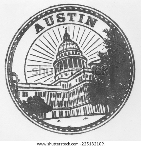Genuine Austin Stamp - stock photo
