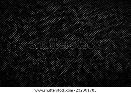 Genuine black leather background, pattern, texture. Bumpy, grained structure - stock photo