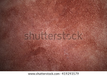 Genuine brown suede leather pad for background texture or another purpose usage - stock photo