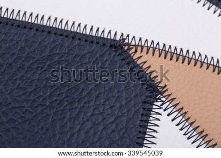 Genuine Colors leather is stitched together
