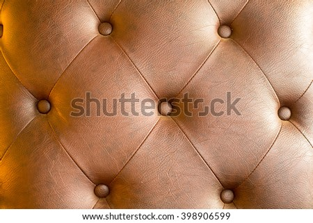 Genuine leather modern brown  texture vintage style. - stock photo