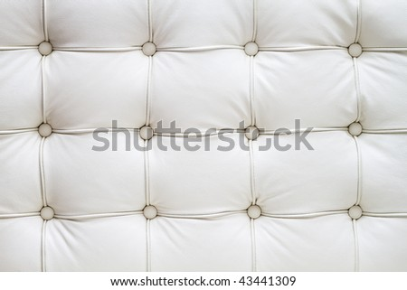genuine leather upholstery - stock photo