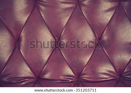 Genuine leather upholstery background for a luxury decoration in Brown tones vintage color - stock photo