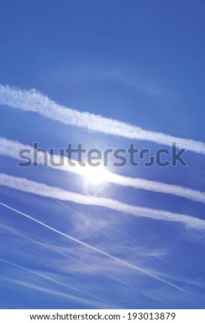 Geo engineering through airplane chemical trails.
