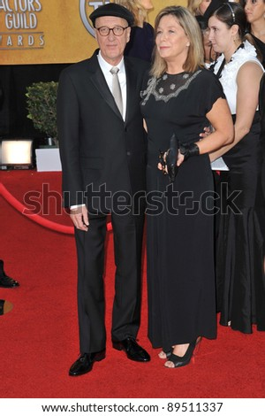 Geoffrey Rush & wife at the 17th Annual Screen Actors Guild Awards at the Shrine Auditorium. January 30, 2011  Los Angeles, CA Picture: Paul Smith / Featureflash