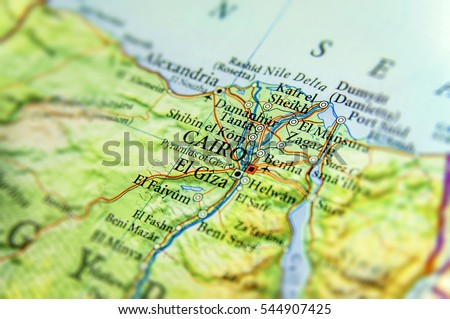 Cairo Map Stock Images RoyaltyFree Images Vectors Shutterstock - Map of egypt with capital