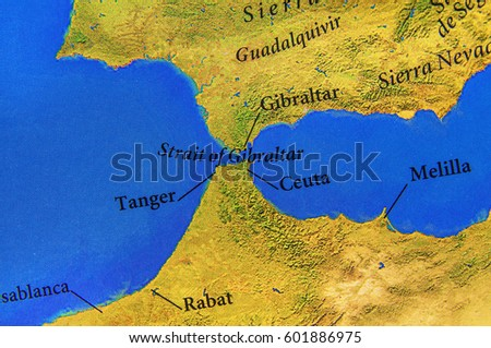 Gibraltar Map Stock Images Royalty Free Images Vectors