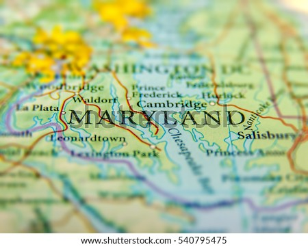 Maryland Map Stock Images RoyaltyFree Images Vectors - Maryland in us map