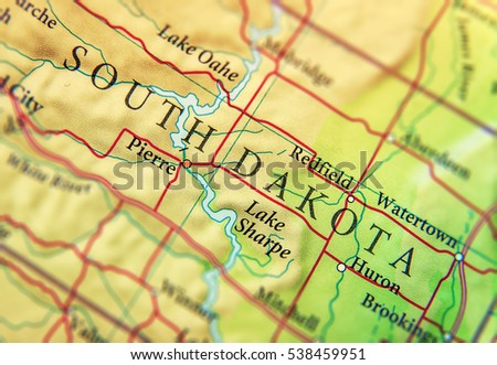 Geographic Map Us State Nebraska Important Stock Photo - Geographic map us