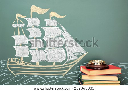 Geography school concept - stock photo