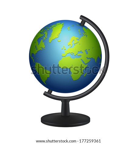 geography school earth globe icon. raster version - stock photo