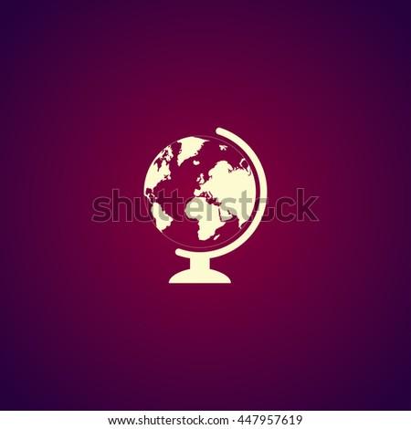 geography school earth globe web icon. illustration - stock photo