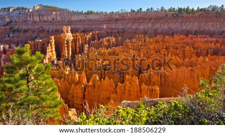 Geological formation in Bryce canyon - stock photo