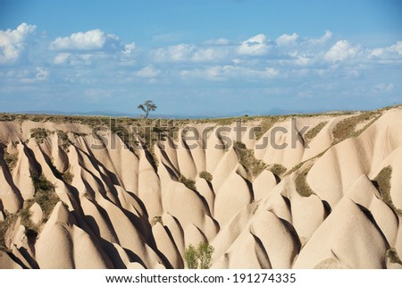 Geological formations in Cappadocia - stock photo
