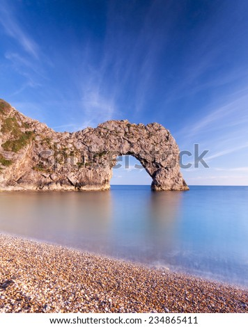 Geologically important and stunningly beautiful Dorset coastline - stock photo
