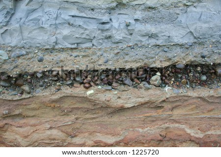 Geology Layers - stock photo