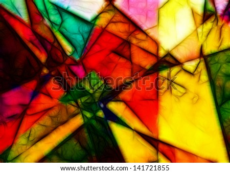 Geometric Abstract - stock photo