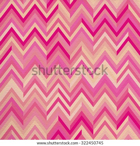 Geometric abstract pink vintage retro seamless pattern zigzag background. Ideal for fabric, wrapping paper, or print.