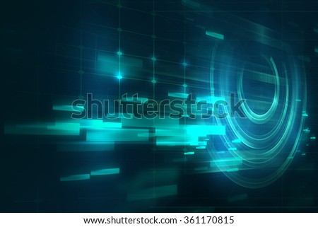 geometric abstract technology and science background