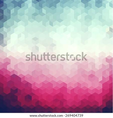 Geometric background  - raster version - stock photo