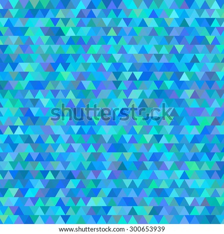 Geometric blue gradient background of bright perspective with lighting glowing triangle. Graphic image template. Abstract Illustration 10 for your business brochure - stock photo