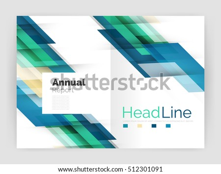 Geometric business annual report templates modern stock illustration geometric business annual report templates modern brochure flyer template illustration accmission Image collections
