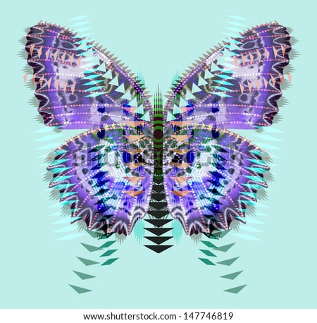 Geometric Butterfly - stock photo