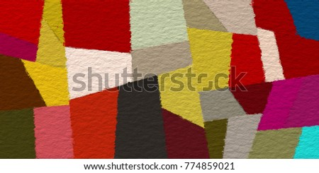 geometric color block paint like graphic illustration background