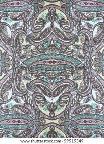geometric decorative natural silk  close up - stock photo
