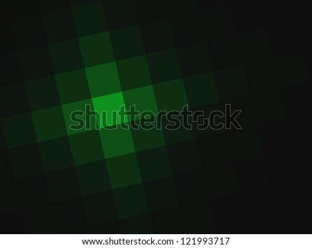 Geometric, futuristic green abstract background