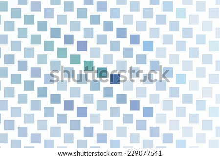 Geometric green, blue and purple square tiles on white background  - stock photo