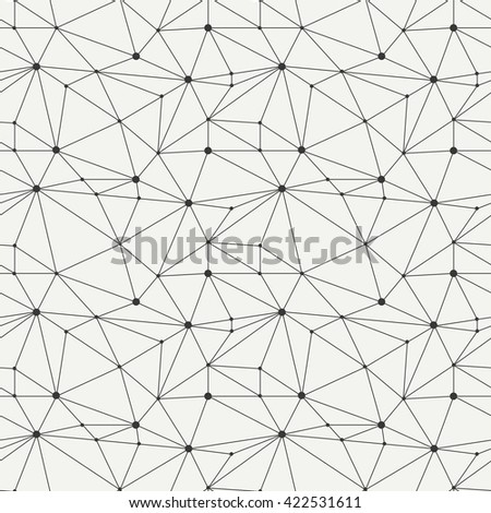 Geometric line hipster seamless pattern with triangle, circles. Reticulated abstract linear grid. Wrapping paper. Scrapbook. Illustration. Background. Graphic texture.