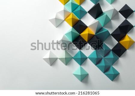 Geometric origami background - stock photo