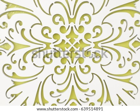geometric ornament template pattern decorative panel stock photo
