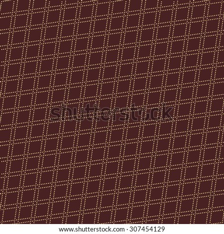 Geometric  ornament with triangles. Seamless abstract texture with dots for wallpapers and background. Brown and golden colors