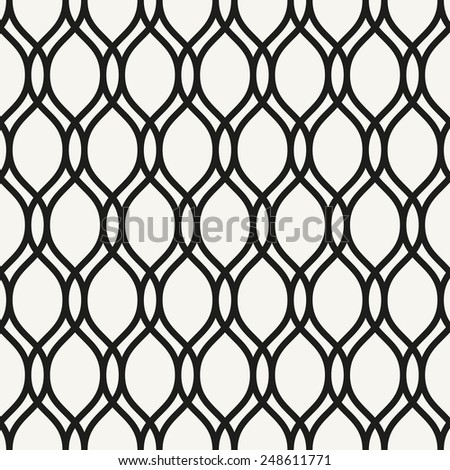 Geometric pattern. Seamless  texture for backgrounds. Black and white colors - stock photo