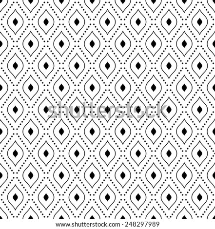 Geometric pattern with black rhombuses. Seamless  texture for backgrounds - stock photo