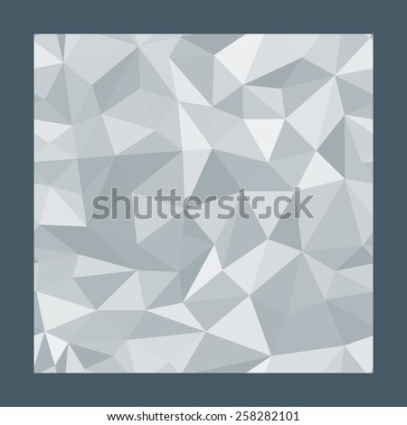 Geometric seamless pattern  from triangles. Grey illustration. - stock photo