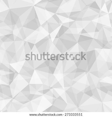 Geometric seamless pattern  from triangles. Light grey illustration. - stock photo