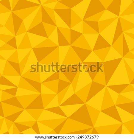 Geometric seamless pattern  from triangles. Yellow illustration. - stock photo
