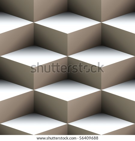 Geometric seamless pattern made of stacked cubes - stock photo