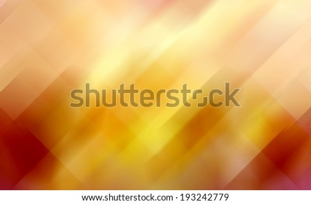 geometric shape background abstract design, random pattern of diamond and trapezoid angled mosaic or stained glass pieces effect, orange red and gold fiery color tone, modern contemporary background - stock photo