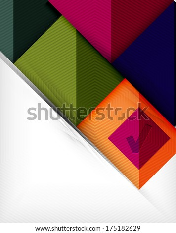 Geometric shape flat abstract background. Blank infographic background. Raster version