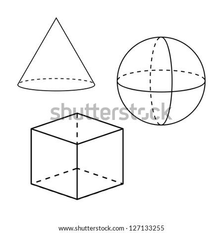Geometric shapes - stock photo