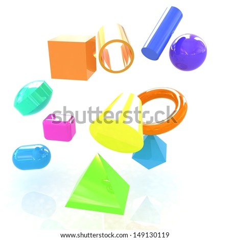 Geometric shapes - stock photo