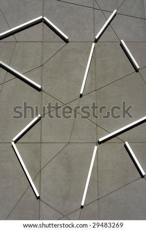 Geometric square composition on grungy background.