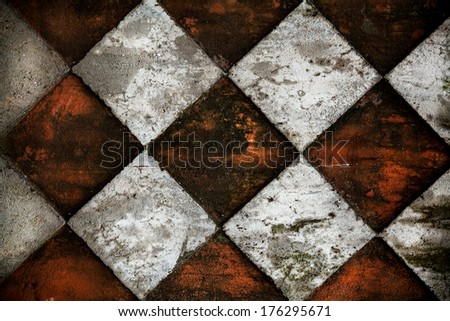 geometric square textured patterns. Use it for a decorative grunge background. - stock photo