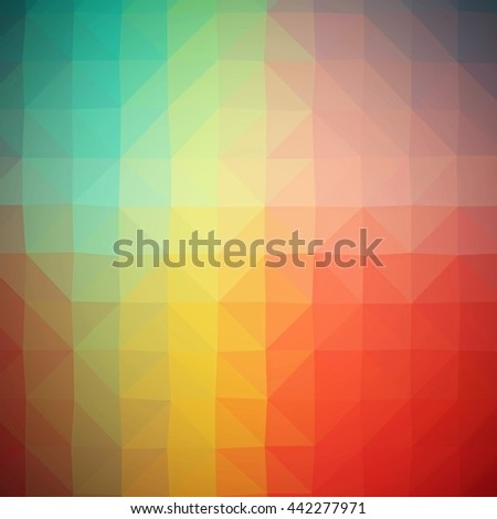Geometric tile mosaic with color triangles. Abstract polygonal pattern in vivid colors. - stock photo