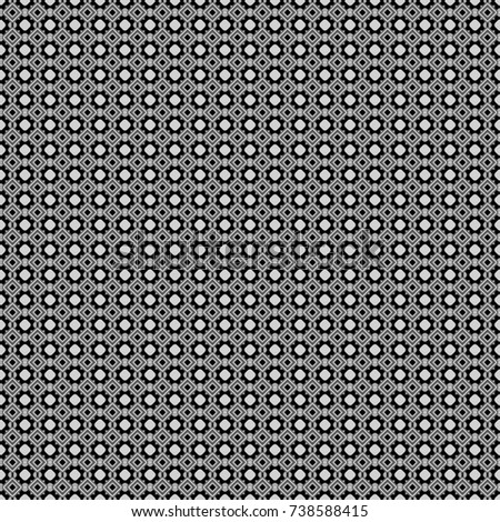 Geometrical abstract tiles mosaic seamless pattern background - graphic with abstract shapes in gray, black and white tones.